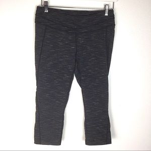 Lucy Grey Large Crop Workout Leggings Tights